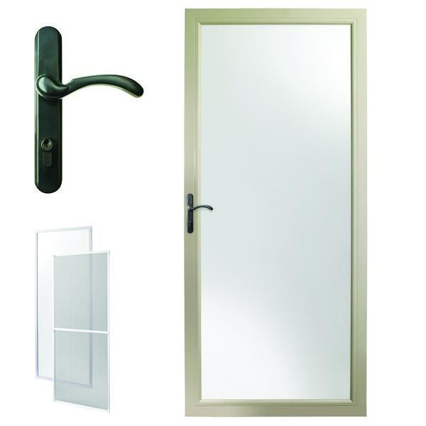 Image For Andersen Storm Door 30u0027u0027 X 80u0027u0027 Sandtone Interchangeable Glass