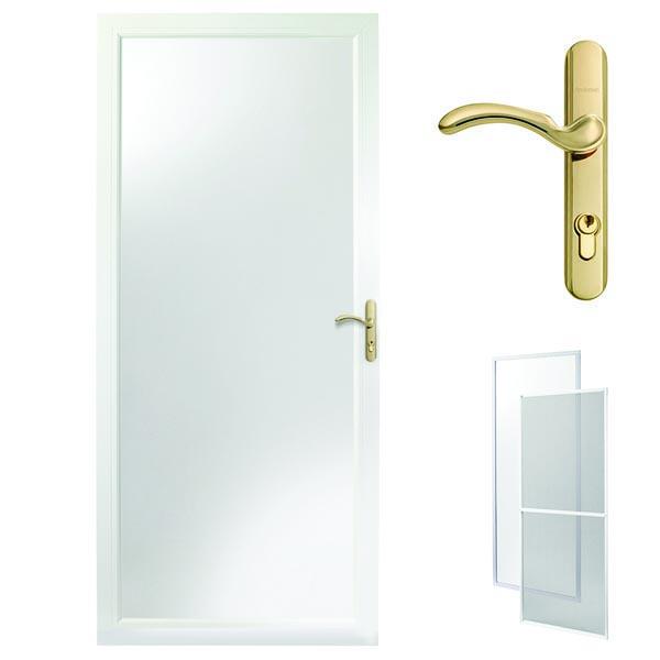 Andersen Storm Door 32 X 80 White Interchangeable Low E Glass