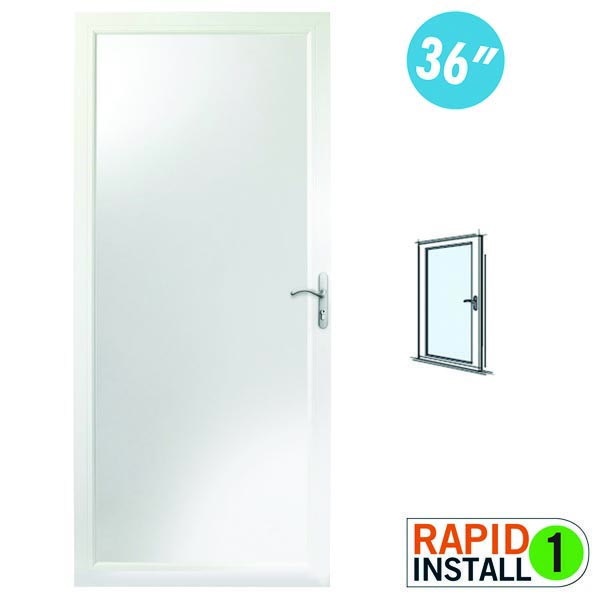 "Image for Andersen Storm Door 36"" x 80"" Fixed Safety Glass - 10 Series from Zabitat"
