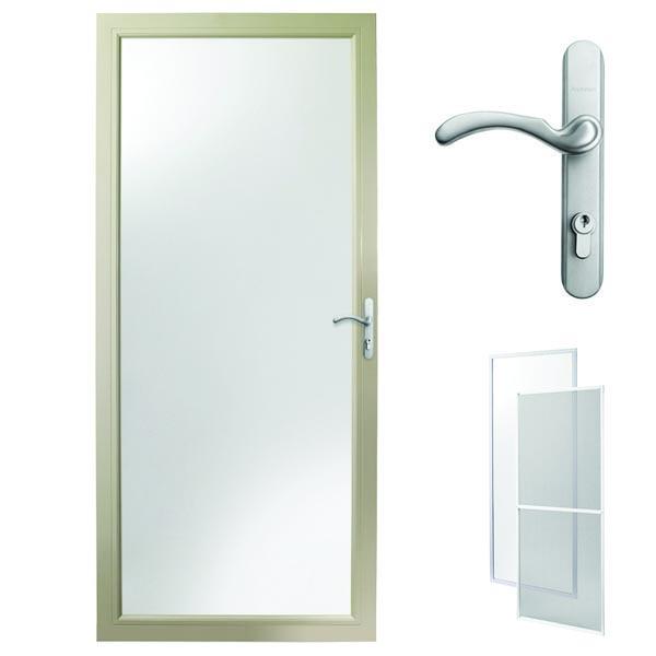Image For Andersen Storm Door 32u0027u0027 X 80u0027u0027 Sandtone Interchangeable Glass