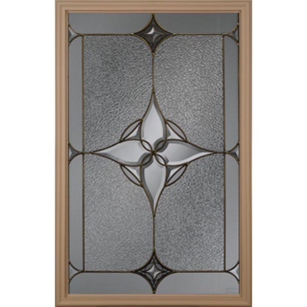 "Western Reflections Astrid Door Glass - 24"" x 38"" Frame Kit"
