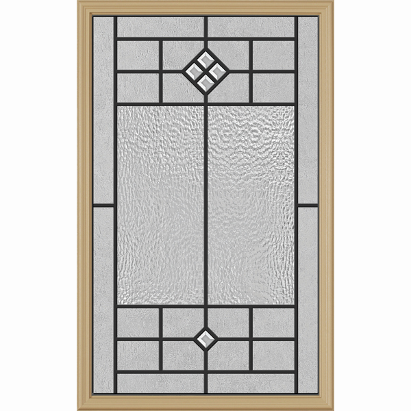 "Western Reflections Door Glass - Beaufort - 24"" x 38"" Frame Kit"