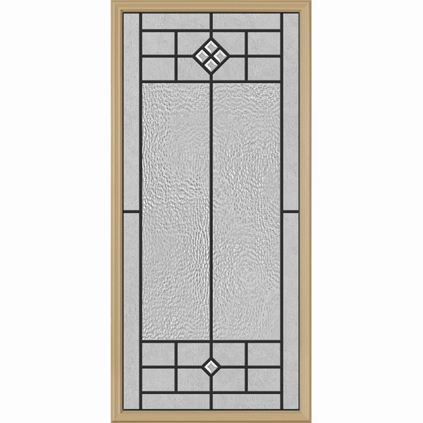 "Western Reflections Door Glass - Beaufort - 24"" x 50"" Frame Kit"