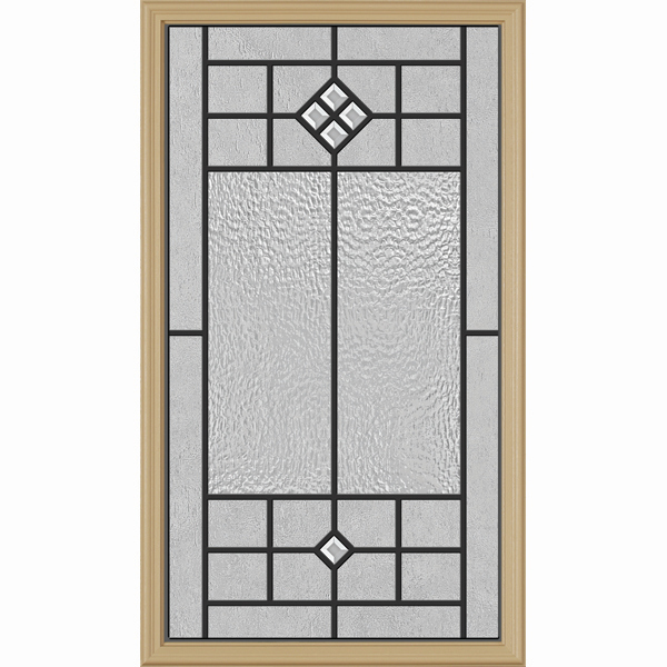 "Western Reflections Door Glass - Beaufort - 22"" x 38"" Frame Kit"