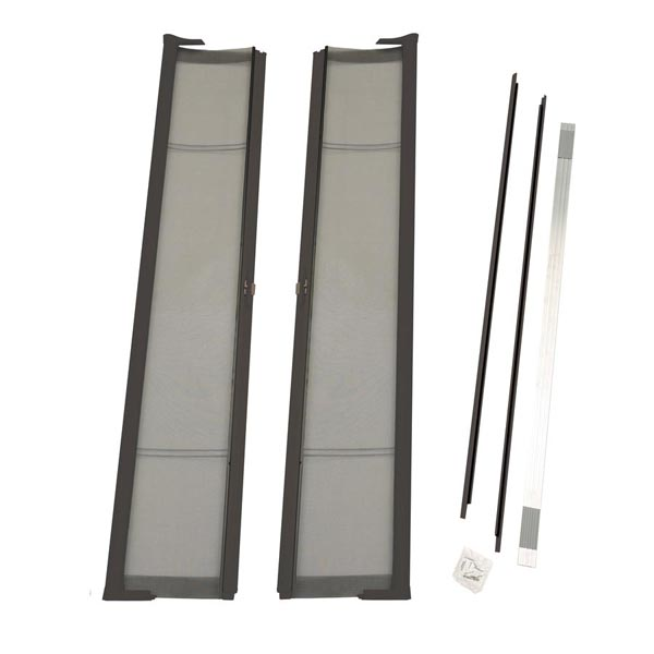 Image for ODL Brisa Premium Retractable Screen Kit for 80 in. Inswing Hinged Double Doors -  Bronze from Zabitat
