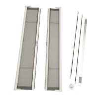 ODL Brisa Premium Retractable Screen Kit for 80 in. Outswing Hinged Double Doors - White  sc 1 st  Zabitat & ODL Brisa Premium Retractable Screen Kit for 80 in. Outswing ... pezcame.com