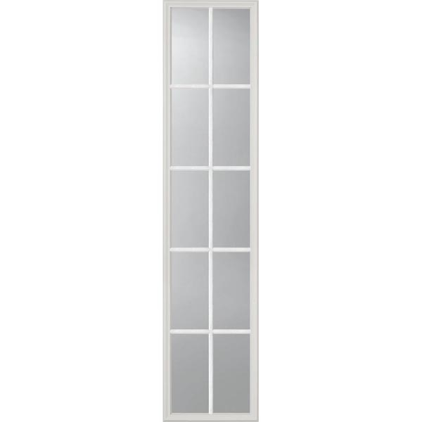 "ODL Clear Low-E Door Glass - 10 Light External Grille - 16"" x 66"" Frame Kit"