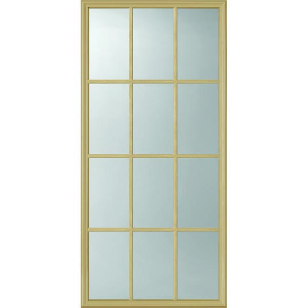 "ODL Clear Low-E Door Glass - 12 Light External Grille - 24"" x 50"" Frame Kit"