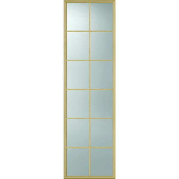 "ODL Clear Low-E Door Glass - 12 Light External Grille - 24"" x 82"" Frame Kit"