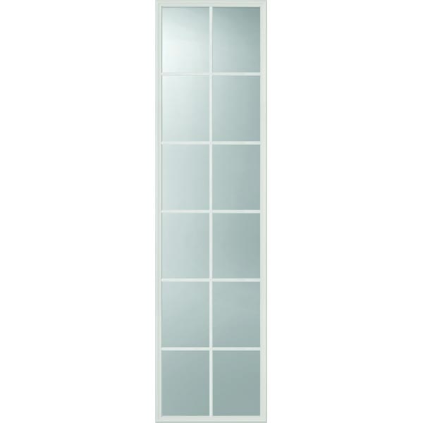 "ODL Clear Low-E Door Glass - 12 Light External Grille - 22"" x 82"" Frame Kit"