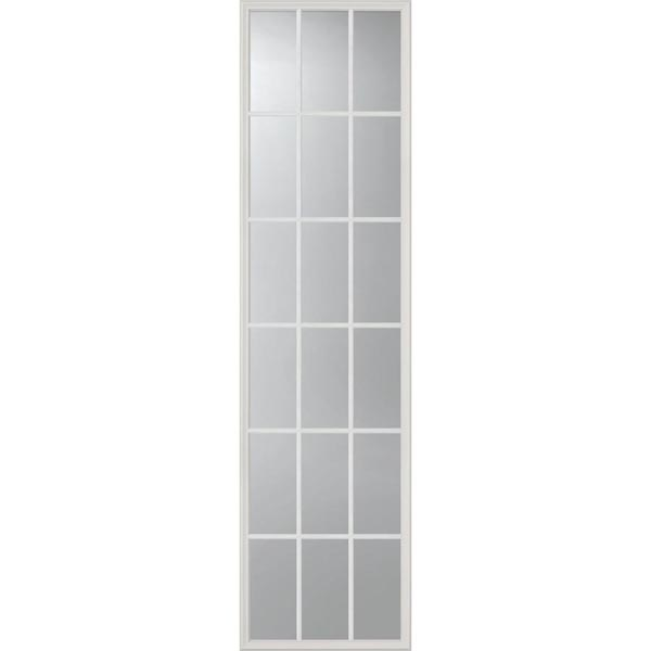 "ODL Clear Low-E Door Glass - 18 Light External Grille - 22"" x 82"" Frame Kit"