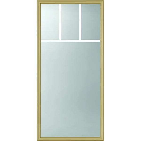 "ODL Clear Low-E Door Glass - 4 Light - 5/8 Arts and Crafts Internal Grille - 24"" x 50"" Frame Kit"
