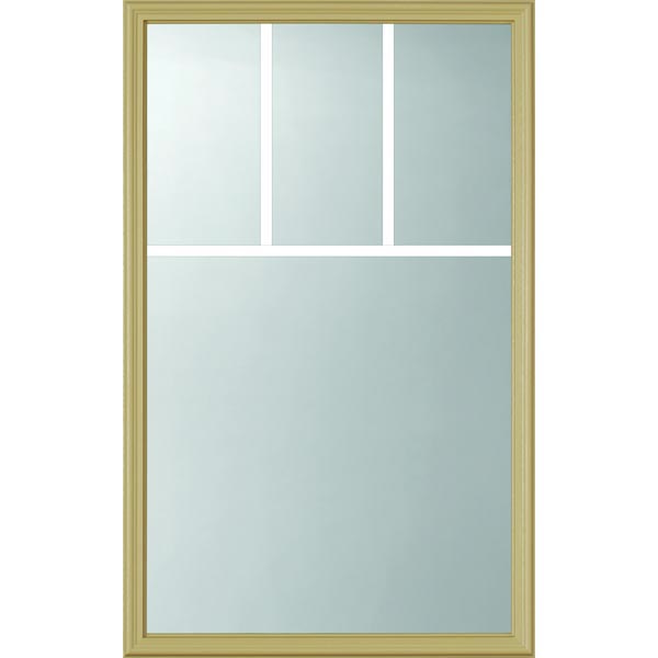 "ODL Clear Low-E Door Glass - 4 Light - 5/8 Arts and Crafts Internal Grille - 24"" x 38"" Frame Kit"