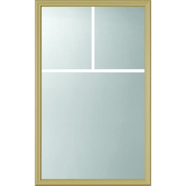 "ODL Clear Low-E Door Glass - 3 Light - 5/8 Arts and Crafts Internal Grille - 24"" x 38"" Frame Kit"