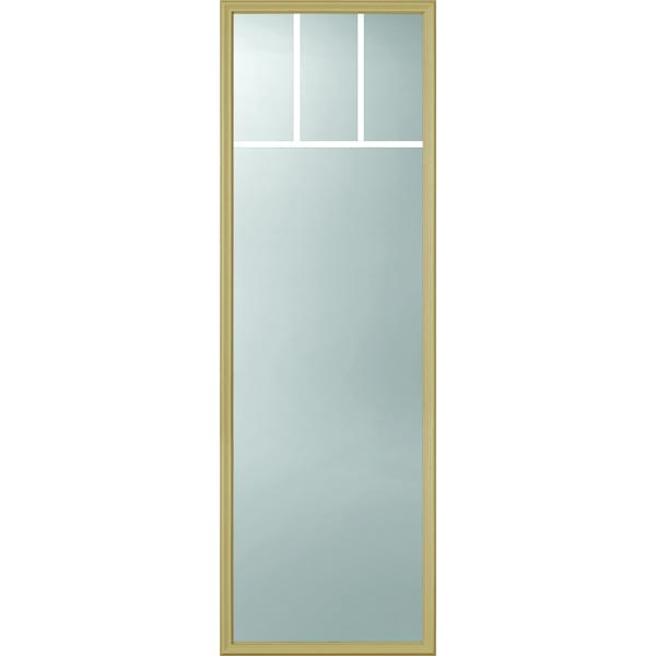 "ODL Clear Low-E Door Glass - 4 Light - 5/8 Arts and Crafts Internal Grille - 22"" x 66"" Frame Kit"