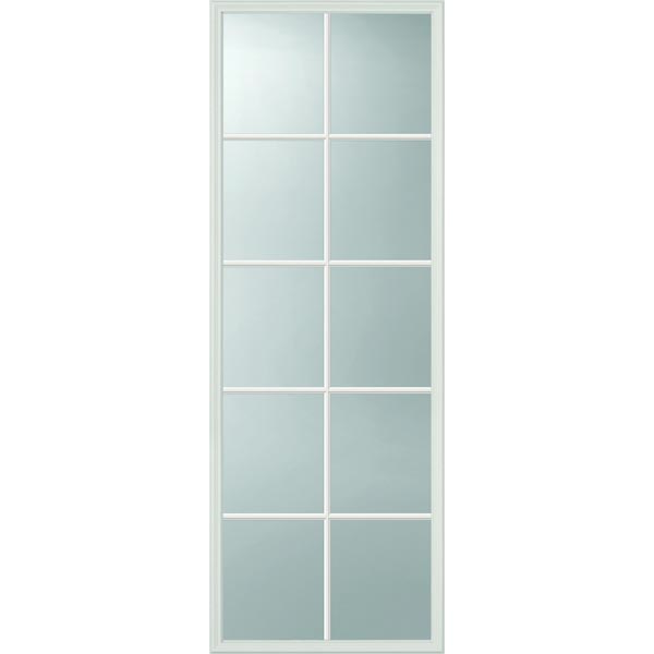 ODL Clear Low-E Door Glass - 10 Light - Contoured Internal Grille ...