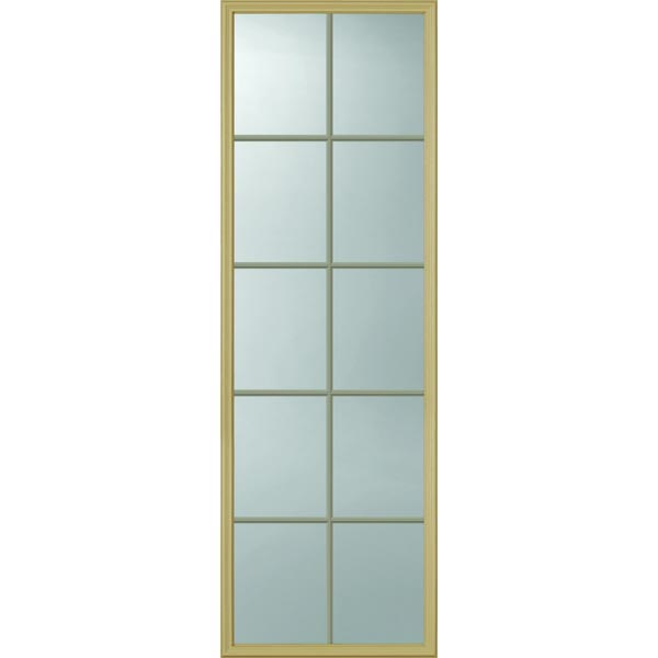 "ODL Clear Low-E Door Glass - 10 Light - Contoured Internal Grille - 22"" x 66"" Frame Kit"
