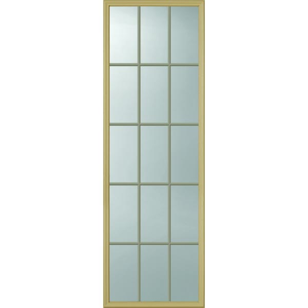 "ODL Clear Low-E Door Glass - 15 Light - Contoured Internal Grille - 22"" x 66"" Frame Kit"