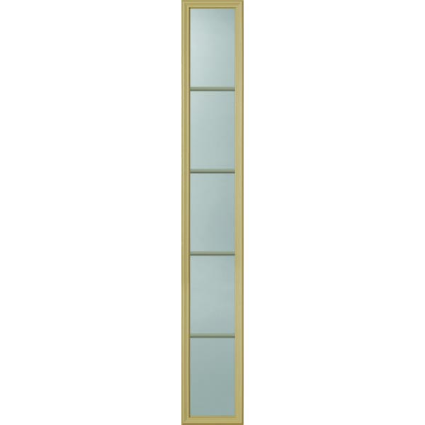 "ODL Clear Low-E Door Glass - 5 Light - Contoured Internal Grille - 10"" x 66"" Frame Kit"