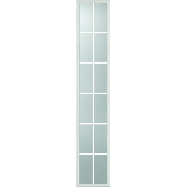 "ODL Clear Low-E Door Glass - 12 Light - 5/8 Internal Grille - 16"" x 82"" Frame Kit"