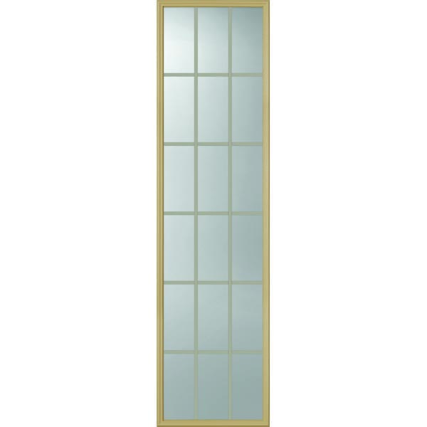 "ODL Clear Door Glass - 18 Light - 5/8 Internal Grille - 22"" x 82"" Frame Kit"