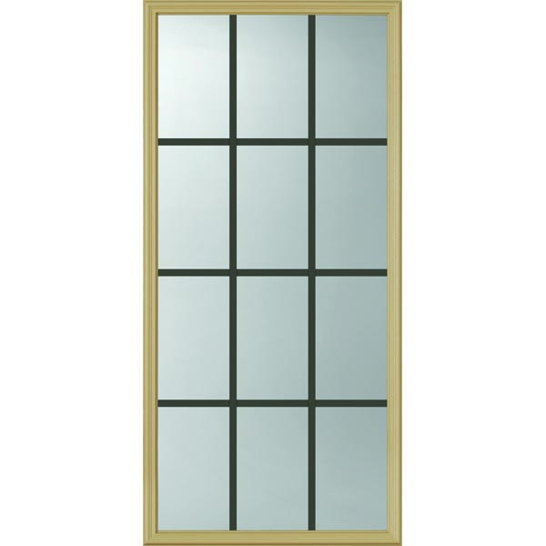 "ODL Clear Door Glass - 12 Light - 5/8 Internal Grille - 24"" x 50"" Frame Kit"