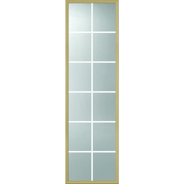 "ODL Clear Door Glass - 12 Light - 5/8 Internal Grille - 24"" x 82"" Frame Kit"