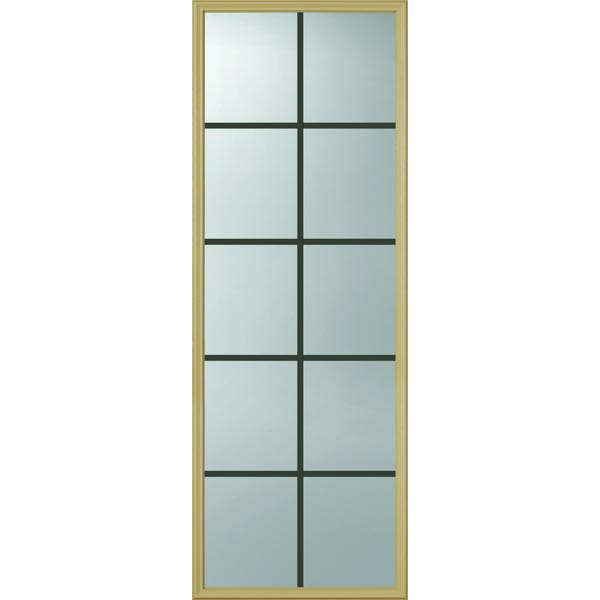 ODL Clear Door Glass - 10 Light - 5/8 Internal Grille - 24\