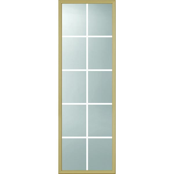"ODL Clear Low-E Door Glass - 10 Light - 5/8 Internal Grille - 22"" x 66"" Frame Kit"