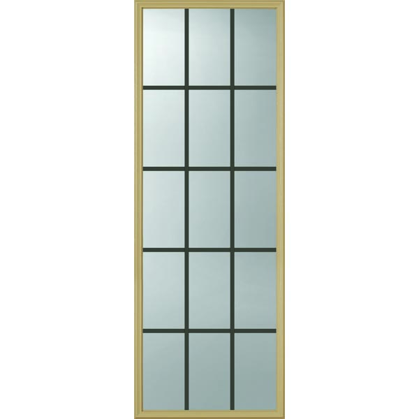 "ODL Clear Door Glass - 15 Light - 5/8 Internal Grille - 24"" x 66"" Frame Kit"