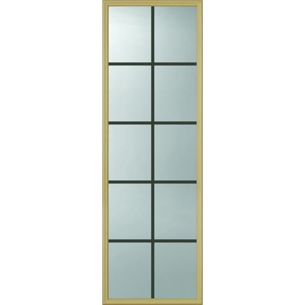 "ODL Clear Door Glass - 10 Light - 5/8 Internal Grille - 22"" x 66"" Frame Kit"