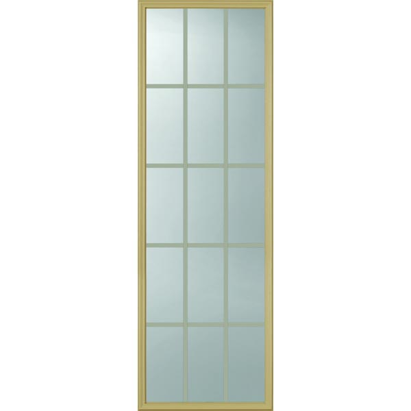 "ODL Clear Low-E Door Glass - 15 Light - 5/8 Internal Grille - 22"" x 66"" Frame Kit"