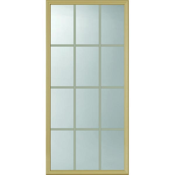 "ODL Clear Low-E Door Glass - 12 Light - 5/8 Internal Grille - 24"" x 50"" Frame Kit"