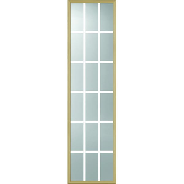 "ODL Clear Low-E Door Glass - 18 Light - 5/8 Internal Grille - 22"" x 82"" Frame Kit"