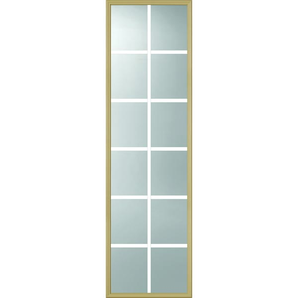 "ODL Clear Door Glass - 12 Light - 7/8 Internal Grille - 24"" x 82"" Frame Kit"