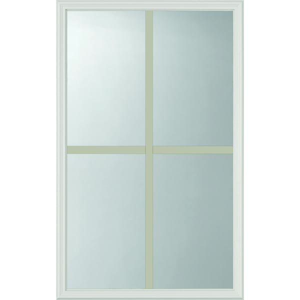 ODL Clear Low-E Door Glass - 4 Light - 7/8 Internal Grille - 24\  x 38\  Frame Kit  sc 1 st  Zabitat & ODL Clear Low-E Door Glass - 4 Light - 7/8 Internal Grille - 24\