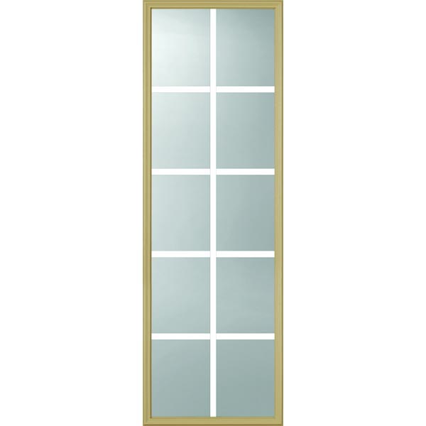 "ODL Clear Door Glass - 10 Light - 7/8 Internal Grille - 22"" x 66"" Frame Kit"