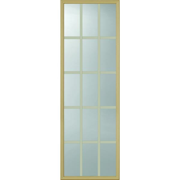 "ODL Clear Low-E Door Glass - 15 Light - 7/8 Internal Grille - 22"" x 66"" Frame Kit"
