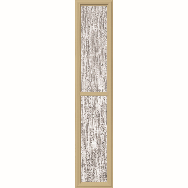 "ODL Perspectives Low-E Door Glass - 2 Light - Rain - Simulated Divided Light - 10"" x 50"" Frame Kit"