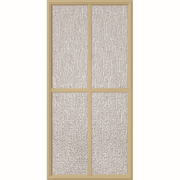 "ODL Perspectives Low-E Door Glass - 4 Light - Rain - Simulated Divided Light - 24"" x 50"" Frame Kit"