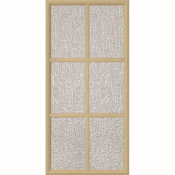 "ODL Perspectives Low-E Door Glass - 6 Light - Rain - Simulated Divided Light - 24"" x 50"" Frame Kit"