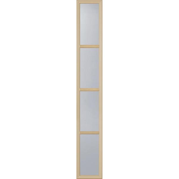 "ODL Clear Low-E Door Glass - 4 Light - 7/8 Simulated Divided Light - 10"" x 66"" Frame Kit"