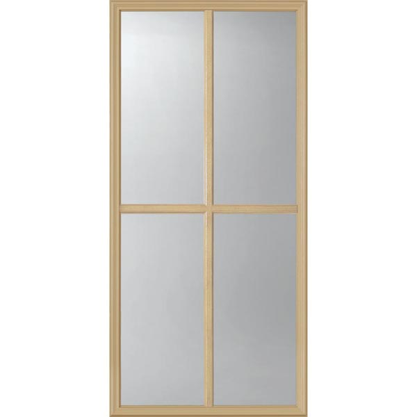 "ODL Clear Low-E Door Glass - 4 Light - 7/8 Simulated Divided Light - 24"" x 50"" Frame Kit"