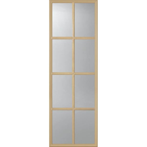 "ODL Clear Low-E Door Glass - 8 Light - 7/8 Simulated Divided Light - 22"" x 66"" Frame Kit"