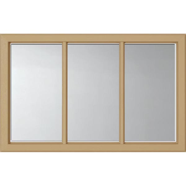 "ODL Clear Low-E Door Glass - 3 Light - 1 2 Simulated Divided Light - 27"" x 17.25"" Craftsman Frame Kit"