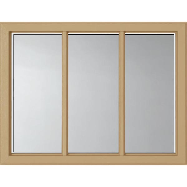 "ODL Clear Low-E Door Glass - 3 Light - 1 2 Simulated Divided Light - 23.313"" x 17.938"" Craftsman Frame Kit"
