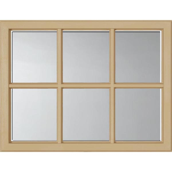 "ODL Clear Low-E Door Glass - 6 Light - 1 2 Simulated Divided Light - 23.313"" x 17.938"" Craftsman Frame Kit"