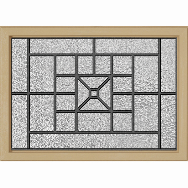 "ODL Destinations Door Glass - Courtyard - 24"""" x 17.25"""" Craftsman Frame Kit"
