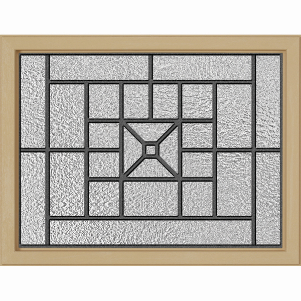"ODL Destinations Door Glass - Courtyard - 23.313"""" x 17.938"""" Craftsman Frame Kit"