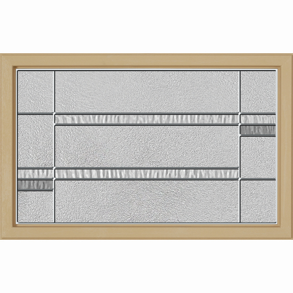 "ODL Destinations Door Glass - Crosswalk - 27"""" x 17.25"""" Craftsman Frame Kit"